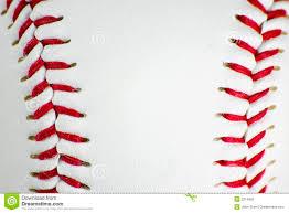 closeup of baseball stitching royalty free stock photo image