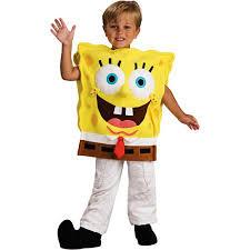 Boys Halloween Costumes Walmart Spongebob Deluxe Child Halloween Costume Walmart
