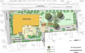 construction site plan wheaton library and community recreation center