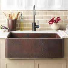 Sinks Extraordinary Hammered Copper Farmhouse Sink Kitchen Sink - Hammered kitchen sink