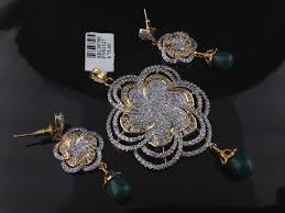 designer diamond sets indian american diamond pendant set indian kundan islamic and