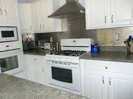 kitchen with stainless steel backsplash stainless steel backsplash tiles sowingwellness co