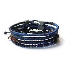 blue bracelet images Wakami men 39 s earth bracelet 4 strands blue jpg