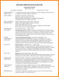 Chronological Sample Resume by 6 Chronological Examples Theatre Resume