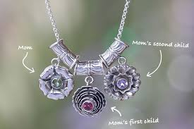 Necklace With Children S Birthstones Birthstone Jewelry For Mom 3 Heartwarming Gift Ideas
