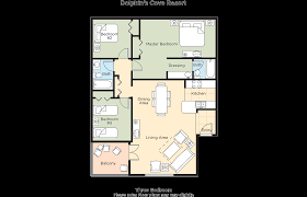 3 Bedroom Floor Plan by Club Wyndham Dolphin U0027s Cove Resort