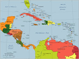Blank South And Central America Map by Central America U0026 Caribbean Map Caribbean Country Map Caribbean