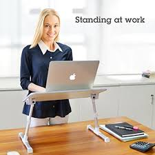 Laptop Bed Desk Tray Avantree Quality Adjustable Laptop Table Portable Standing Bed