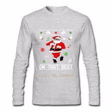 men autumn santa dance merry christmas shirt custom long sleeve