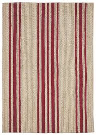 Pink And White Striped Rug Braided Rug Farmhouse Stripe Natural And Red Homespice
