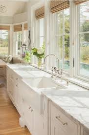 sunshiny white farmhouse kitchen sink