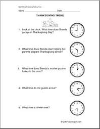 thanksgiving time primary word problems abcteach