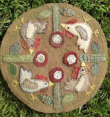 Wool Felt Rugs 107 Best Penny Rugs Images On Pinterest Penny Rugs Wool Felt