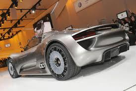porsche supercar concept new porsche 918 spyder sports plug in hybrid concept revealed in