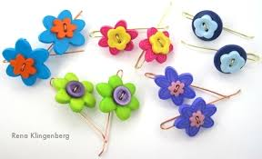 button earrings flower power button earrings tutorial jewelry journal