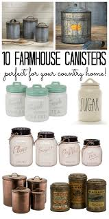 country canisters for kitchen farmhouse canisters for your country home the country chic cottage