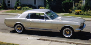 Silver Mustang With Black Stripes Muscle Car Classic Car Photos