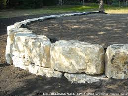 boulder retaining wall limestone retaining walls pinterest