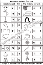 phonics u2013 middle sounds free printable worksheets u2013 worksheetfun