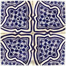 blue moorish shower wall tile