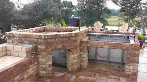 outdoor wood fired pizza oven outdoor kitchen with wood fired