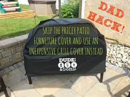 Patio Grill Cover by Diy Patio Furniture Cover Hack