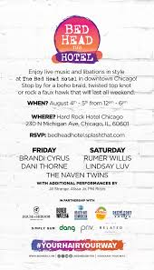 ultimate guide to lollapalooza bed head hotel invite mermaid
