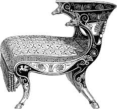 Dining Room Table Clipart Black And White Curule Chair Clipart Etc