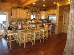 interior engaging kitchen design and decoration using rustic
