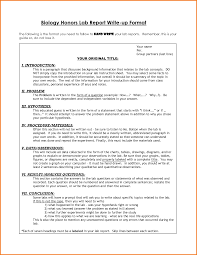 formal lab report template sle lab report biology college college paper service