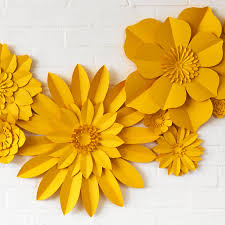 paper flowers set of 13 handmade paper flowers by may contain glitter