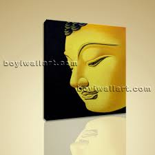 large feng shui painting abstract buddha head peaceful home decor