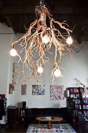 Diy Rustic Chandelier Extraordinary Tree Branch Chandelier 30 Creative Diy Ideas For