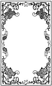 gothic flower border design clipart best european pattern vector gothic