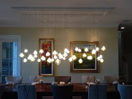 Glass Chandeliers For Dining Room Kadur Chandelier Dining Room Table Custom Blown Glass