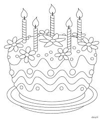 Coloriage à imprimer un gâteau danniversaire  Happy birthday