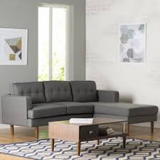 Straight Sectional Sofas Mid Century Modern Sectional Sofas You U0027ll Love Wayfair
