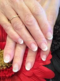 soak off white french polish gel on natural nail overlays glam