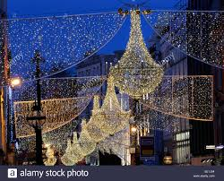 christmas lights decorations grafton street dublin city ireland