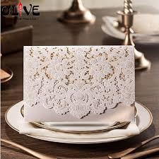 Invitation Cards Handmade - 50 pcs wedding invitations cards handmade laser cut invitation