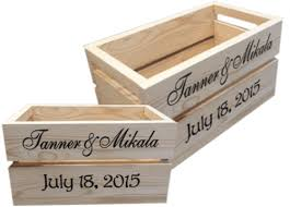 Personalized Wooden Boxes Personalized Wood Crates North Rustic Design