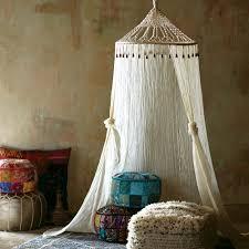 Boho Bed Canopy Boho Sheer Cotton Macrame Canopy World Market