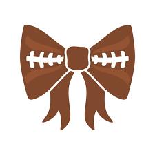 football ribbon football bow cuttable design