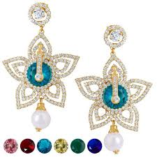 ear ring image buy sukkhi stylish gold plated ad earring with 6 pairs of