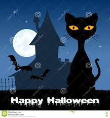 halloween haunted house background halloween night with cat u0026 haunted house stock vector image