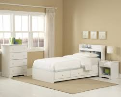 bedroom gorgeous white twin bed with storage amazing bookcase