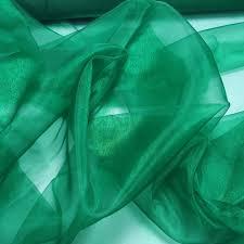 shiny emerald green organza fabric bodikian textiles