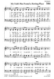 A Place Hymn My Faith Has Found A Resting Place Hymnary Org