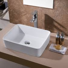 Small Wall Sinks Bathroom Vessel Sinks With Soft Blue Wall Design And Grey Ceramic