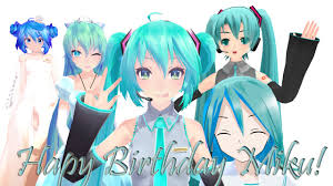 mmd happy birthday hatsune miku 8th anniversary world is mine